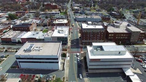 downtown barber burlington nc aerial views of downtown burlington nc youtube