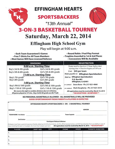 3 On 3 Basketball Tournament Registration Form Template sportsbackers 3 on 3 basketball tournament scheduled
