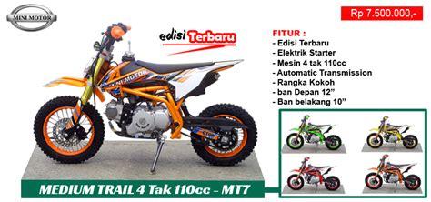 As Roda Trail 110cc mini motor spesialist importir mini motor