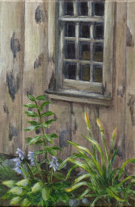 Landscape Artists Buildings Original Acrylic Painting Landscape Small Painting Of An