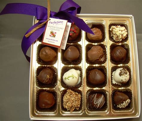 Gourmet Handmade Chocolates - sixteen assorted truffles we ship anywhere www