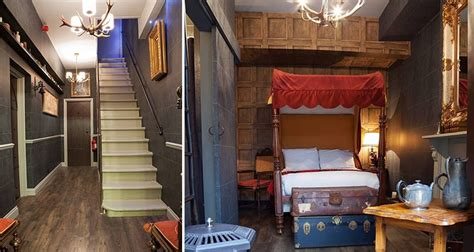 there s a harry potter themed hotel room in london and it harry potter fans will love this awesome hogwarts themed