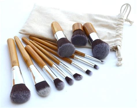 cosmetic make up brush 11 set with pouch kuas make up