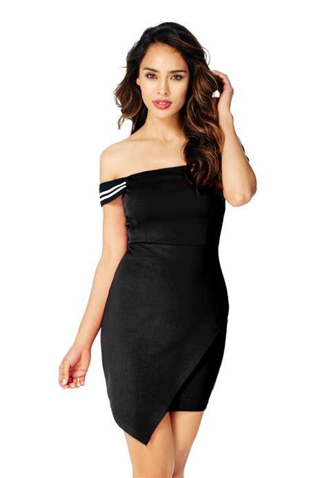 Big Stripe Top Or Dress stripe sleeves dress in black get great deals at justfab