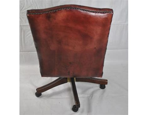 tufted leather office chair vintage vintage leather tufted office chair the local vault