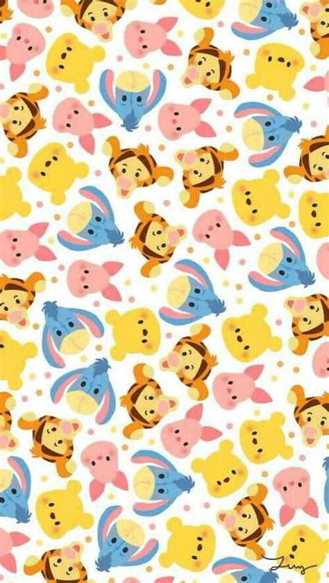 vertical wallpaper disney disney tsum tsum wallpaper background and pooh