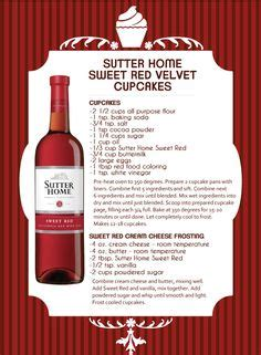 sutter home sweet velvet cupcakes visit our for