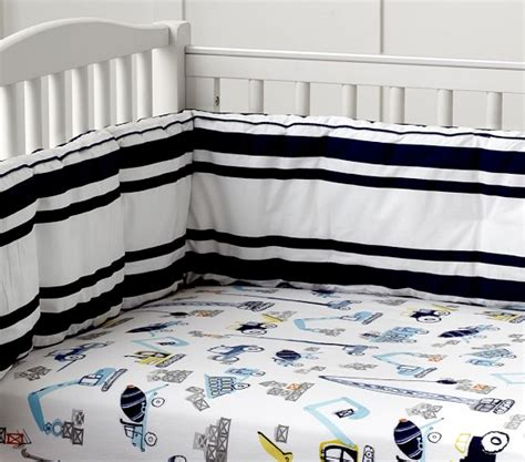 Construction Crib Bedding Set Construction Nursery Bedding Pottery Barn