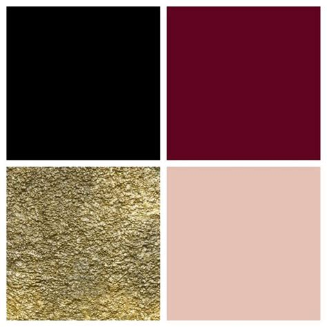 theme color palette black bordeaux gold blush color palettes living room