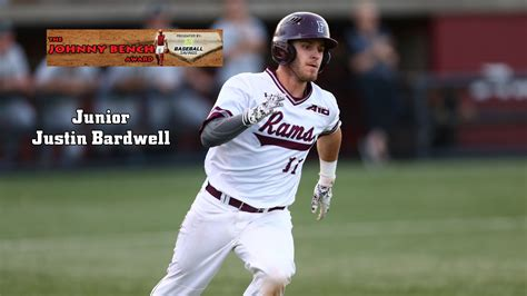 johnny bench watch list baseball s justin bardwell named to johnny bench award