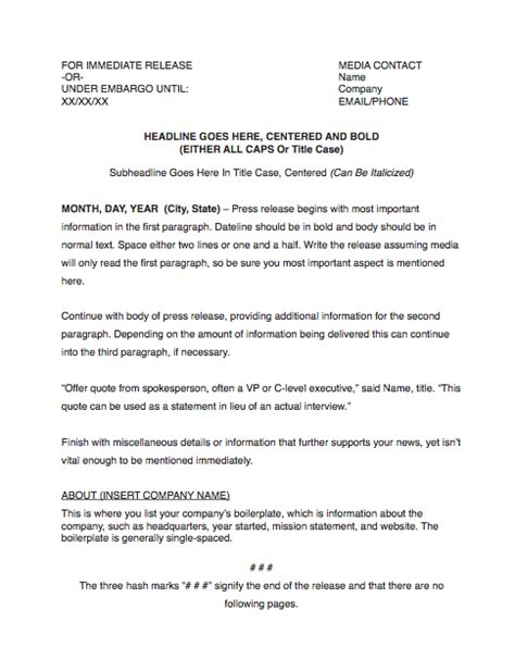 non profit press release template how to write an press release for your startup