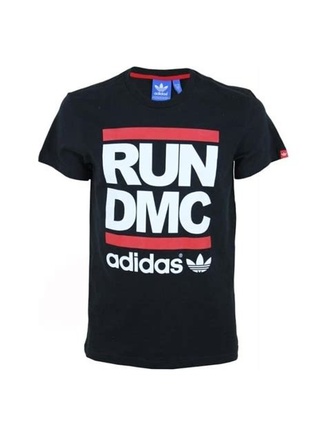 Original Adidas Tshirt Run Bq8380 adidas originals x run dmc logo t shirt in black