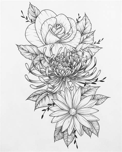 tattoo flower sketch 22 best flower tattoo pages images on pinterest drawing