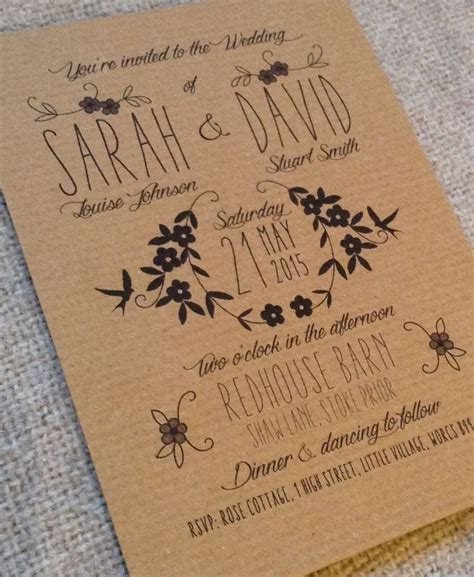 Brown Wedding Invitations by 25 Best Ideas About Vintage Wedding Invitations On