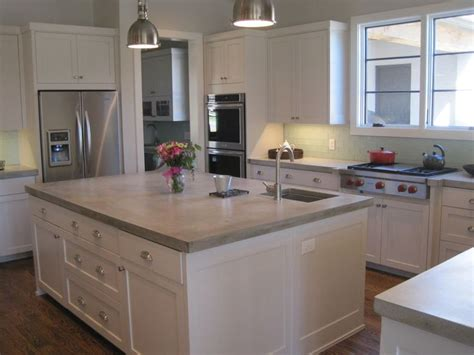 kitchen island counters best 25 concrete kitchen countertops ideas on