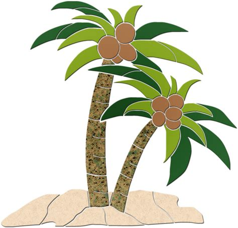Mosaic Garden Art - palm trees picture cliparts co