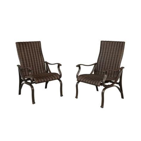 Home Depot Patio Chairs hton bay pembrey patio dining chairs 2 pack hd14204 the home depot