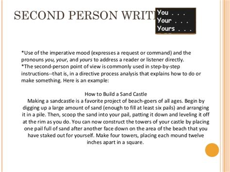Second Person Essay by Writing Workshop December