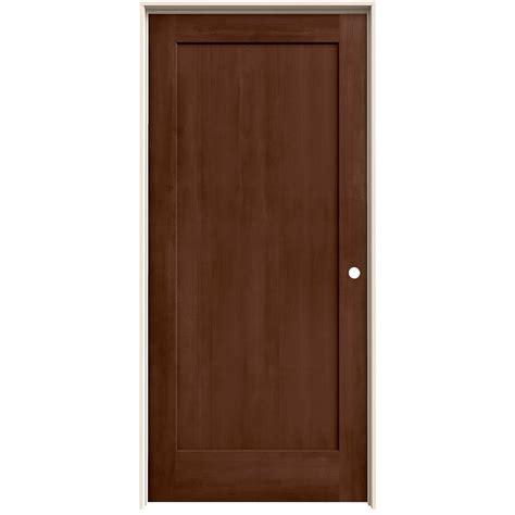 Jeldwen Interior Doors Jeld Wen 36 In X 80 In Milk Chocolate Stain Left Solid Molded Composite Mdf