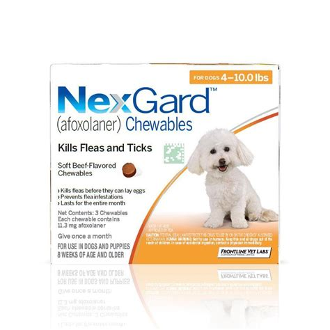 chewable flea and tick for dogs nexgard flea tick chew for next guard for dogs breeds picture www hempzen info