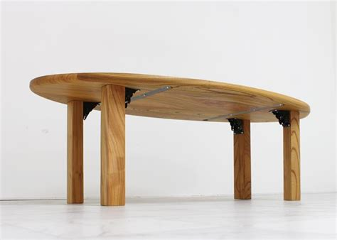 zk table layout mk 72 オーバルlowテーブル legfolding km zk sonne green