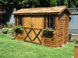 cedarshed longhouse  shed lh  shipping