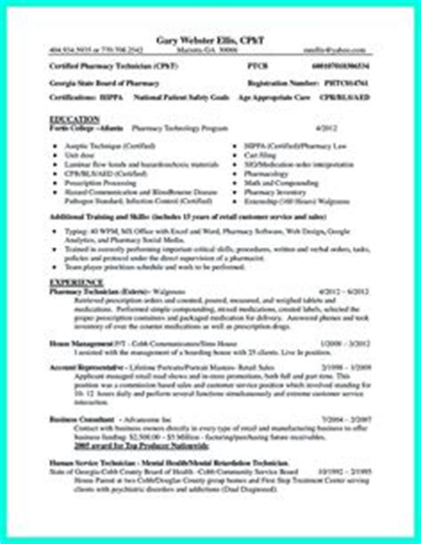 what objectives to mention in certified pharmacy technician resume pharmacy technician resume exles sle