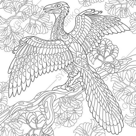 dinosaur archeopteryx adult coloring page