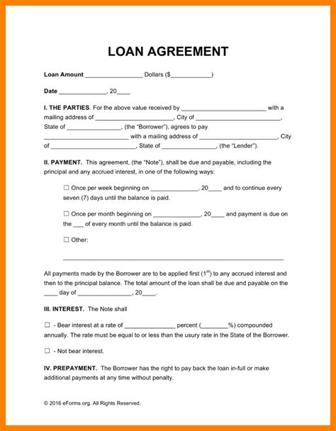 7 simple loan agreement template packaging clerks