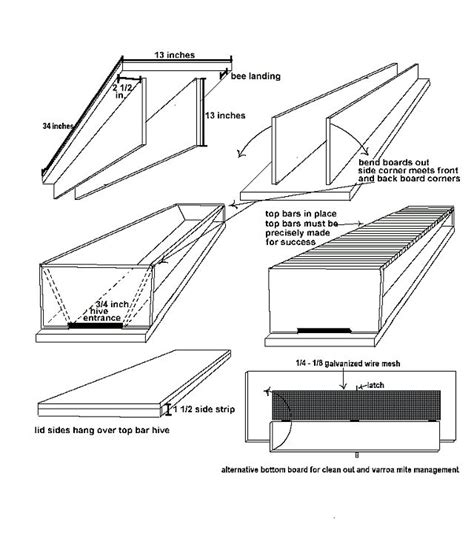 Top Bar Hive Plans Pdf by Top Bar Hive Plans Projects