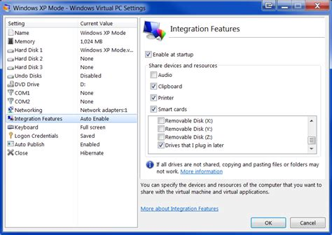 configure xp to allow access from the network windows 7 how to enable or disable integration features