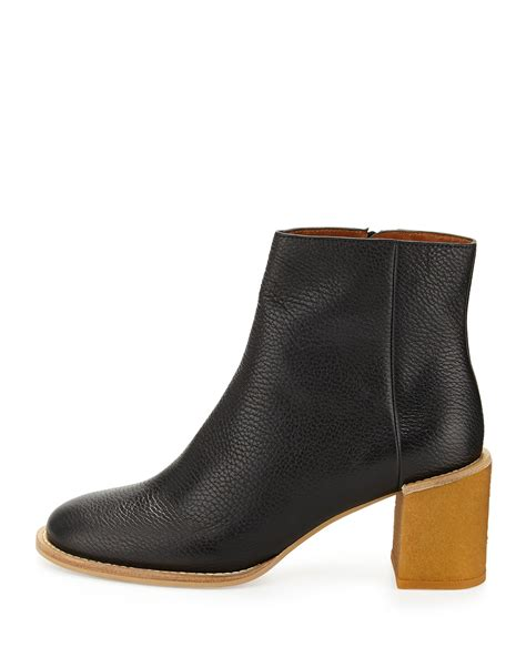 see by boots lyst see by chlo 233 keira leather ankle boot in black