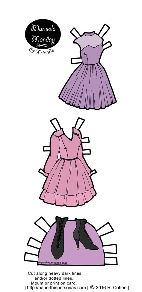 printable paper doll dresses marisole monday friends archives page 3 of 33 paper