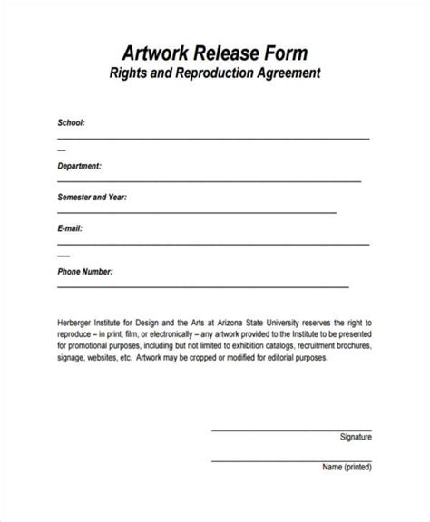 free photography print release form template print release forms resume template sle