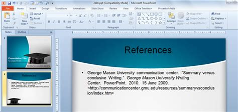 cite  powerpoint