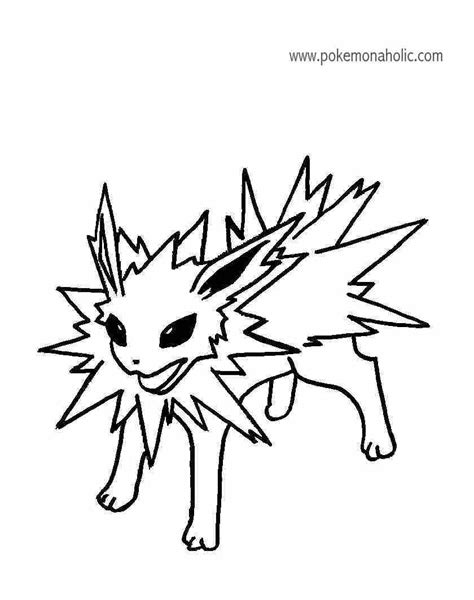 pokemon coloring pages jolteon jolteon free coloring pages