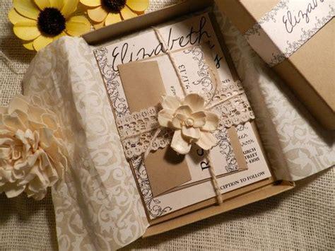 wedding invite boxes vintage flowers wedding invitation box by