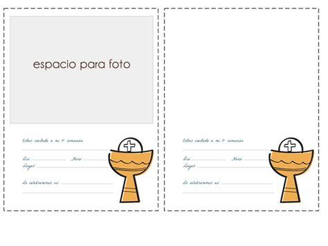tarjetas de comunion personalizadas para imprimir gratis invitaciones de comuni 243 n con foto manualidades