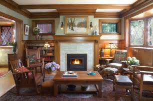 arts and crafts style homes interior design arts crafts fireplace traditional family room