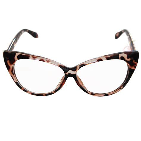 cat eye costume glasses tortoiseshell