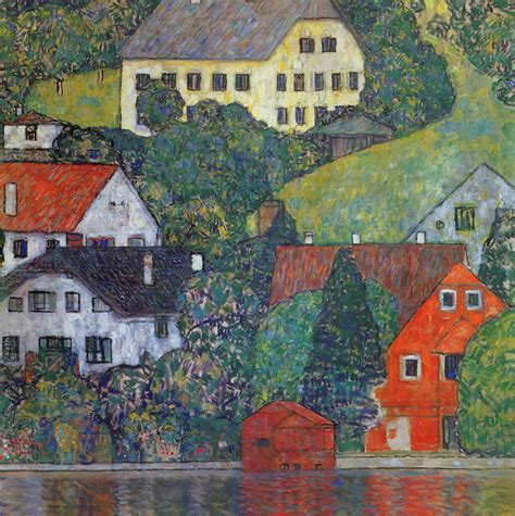 painting of houses h 228 user in unterach am attersee 1916 houses in unterach on