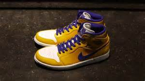 laker colored shoes air 1 retro mid quot lakers quot 2013