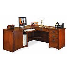 mission desk amish oak craftsman style computer desks