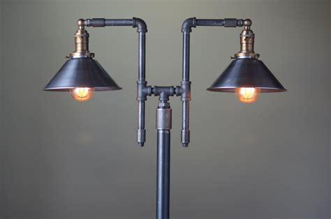 vintage floor lamp industrial style lighting iron pipe