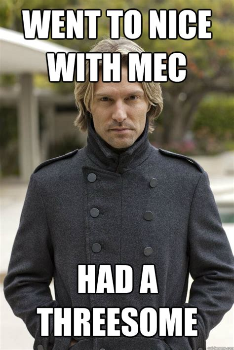 Threesome Memes - went to nice with mec had a threesome superhuman eric