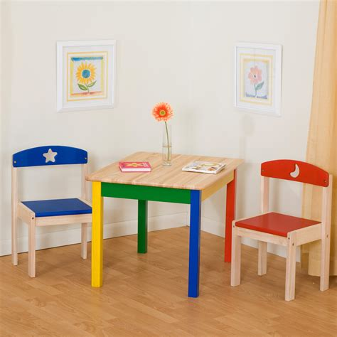 guidecraft childrens table and chairs guidecraft moon and table and chair set at hayneedle