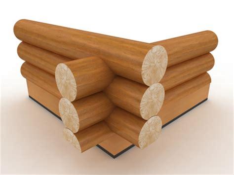 saddle notch log corner section styles