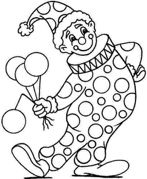 Clown Colouring Pages Clown Coloring Page