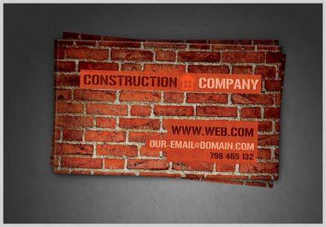 construction business card template psd 50 best free psd business card templates for commercial use