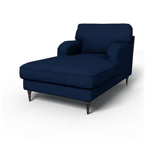 navy blue chaise longue stocksund sofa covers chaise longue regular fit using